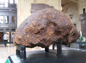 Brenham pallasite, world's largest oriented palisite on display at Kansas City's Union Station by Shaun McGee
