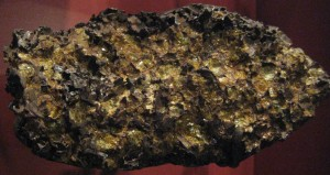 Imilac pallasite. Found 1822, Atacama Desert, Chile. American Museum of Natural History by Claire H.