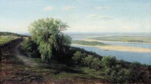 The Volga near Simbirsk (1881) by Mikhail Clodt