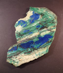 Polished slice of Malachite and Azurite (in stock)