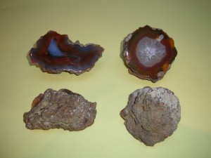 Agate - Whole Condor Geodes Split