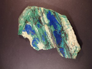 Polished Slice of Malachite and Azurite