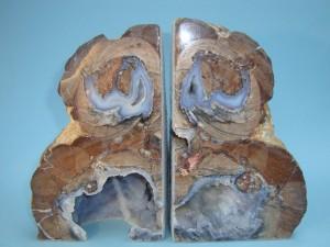 Rhyolite Geode Book Ends