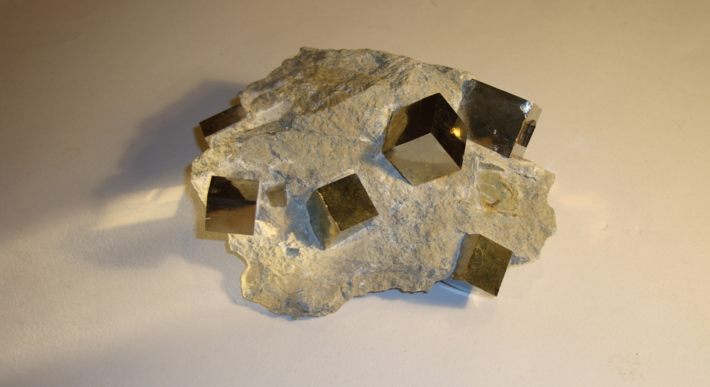 Xmas Gift Iron Pyrite in Matrix