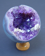 Agate and Amethyst Sphere
