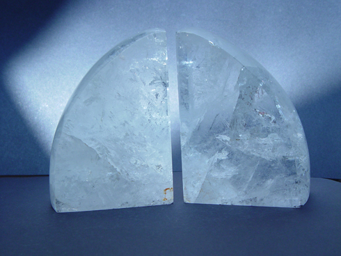 Rock Crystal Book-Ends