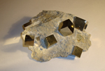 Iron Pyrite Cubes in Natural Matrix