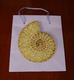 Single Split Polished Ammonite in Bag - Unique Gift