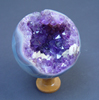Agate and Amethyst Sphere Ornament